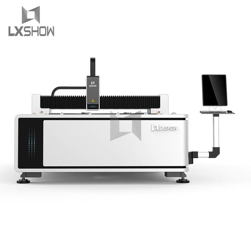 Máquina cortadora láser de fibra de metal de la placa de 1kw 3kw