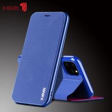 X-level porte-carte En Cuir Flip housses pour Nouvel iPhone 11 Pro XS Max XR X 8 8 6 6S 7plus Ultra Mince En Cuir Housse