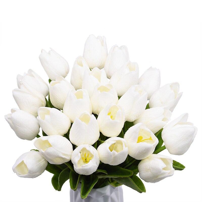 5/10/20/30pcs Artificial Tulip Bonsai Tulip Flower foam Tulipanes Flower Plant For Real Touch Wedding Flower Bouquet Decoration