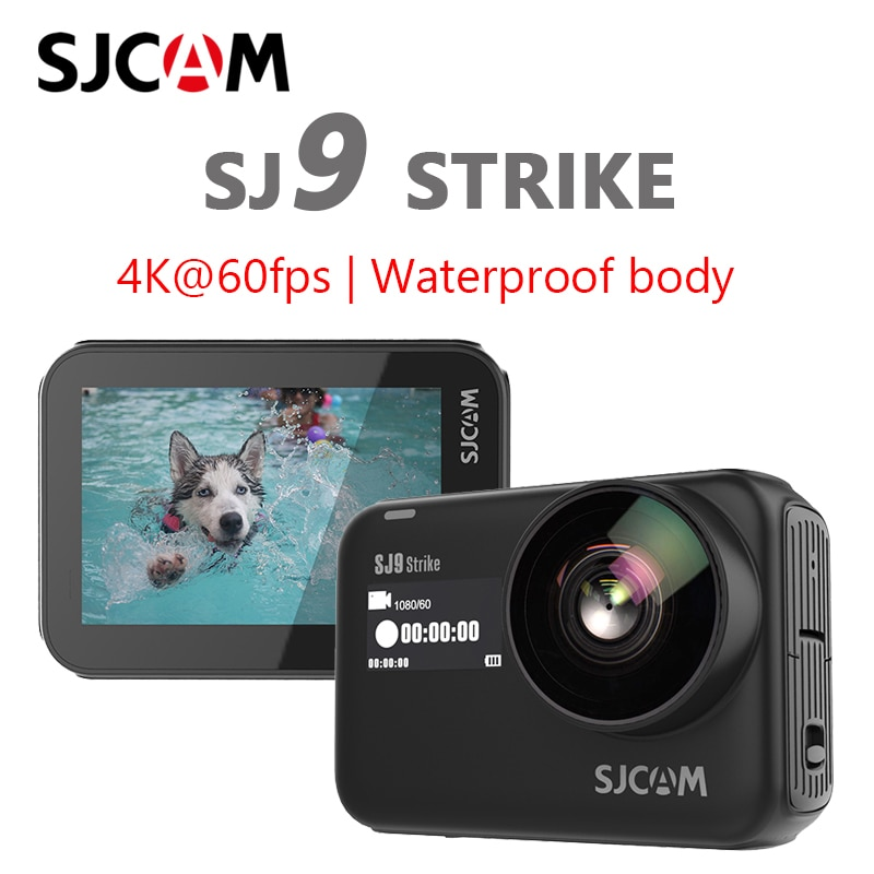 Cámara de acción Original SJCAM SJ9 Strike 4K giroscopio/EIS impermeable de carga inalámbrica en Directo sj9 Cámara deportiva