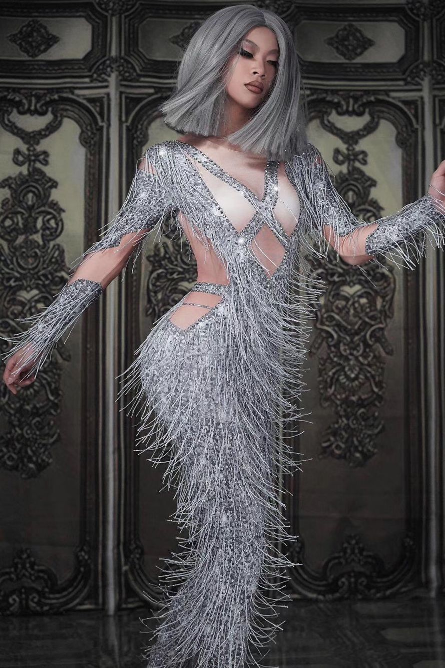 ملهى ليلي بار dj ds أنثى المغني بذلة فريق الرقص gogo زي