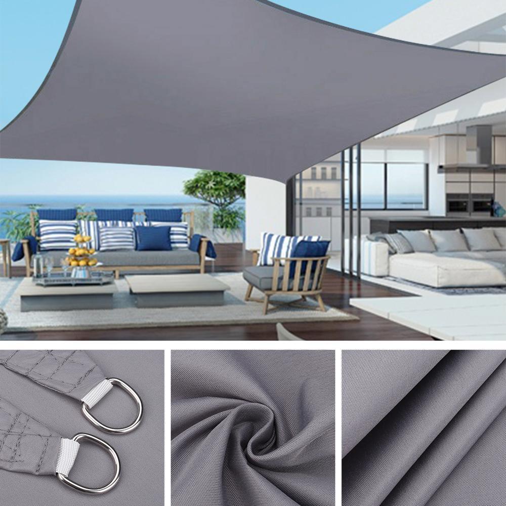3x 2/4/5 متر مقاوم للماء الشمس المأوى ظلة حماية الظل الشراع المظلة التخييم قماش للتظليل كبيرة للخارجية المظلة حديقة فناء