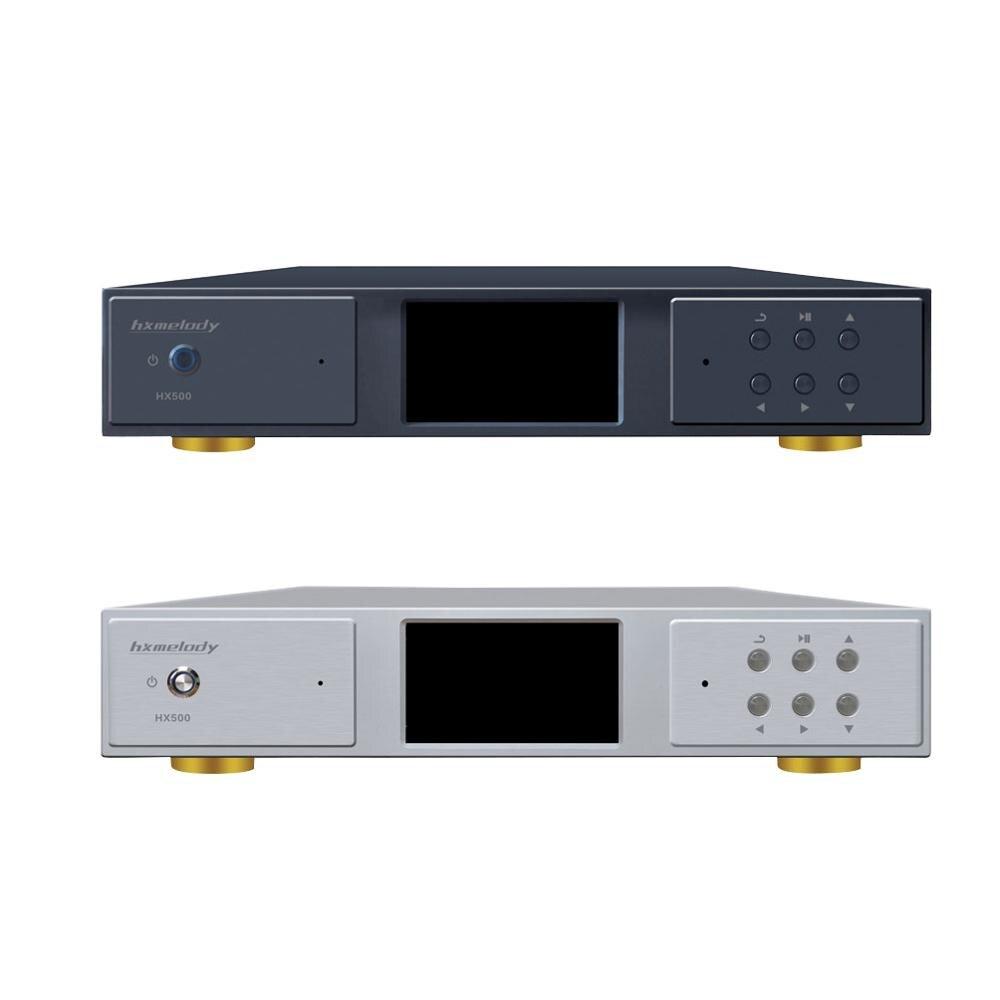 Hxmelody HX500 AK4497 PCM768KHz 32Bit DSD1024 LCD DST64 SACD APP DNLA Digital Turntable CD Lossless Leitor de Música