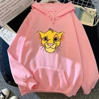 couple lion king simba mens and womens hoodie cute hip hop harajuku pullover korean retro punk casual wild fashion sweatshirt