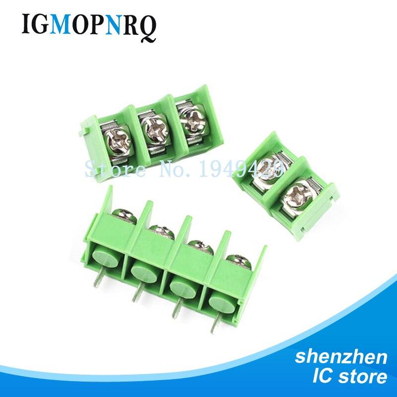 5 peças kf7.62 2p 3p 4p conector terminal parafuso emendado passo 7.62mm 2pin 3pin 4pin
