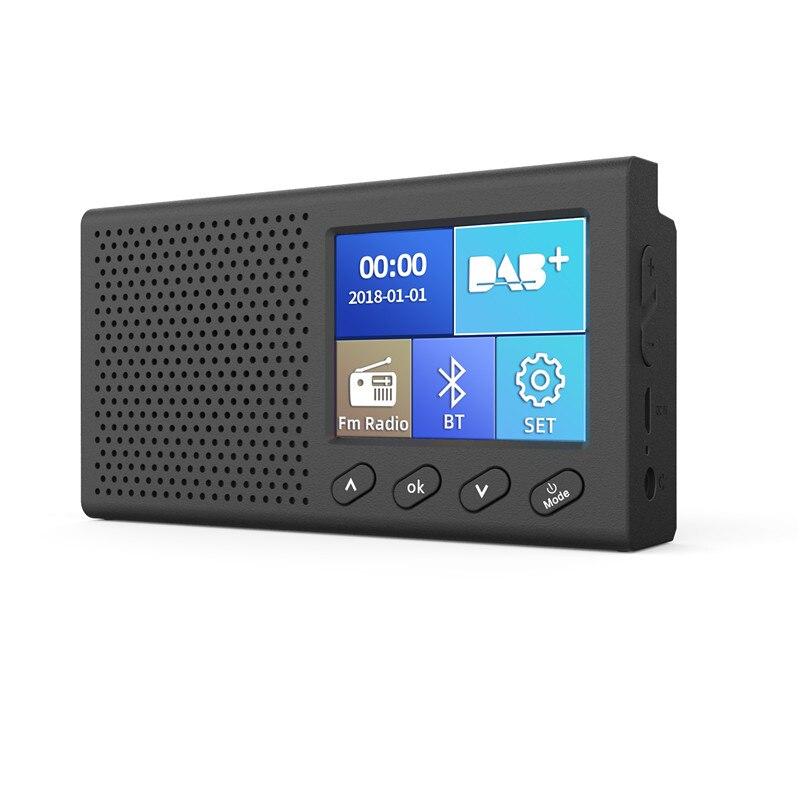 Rortable Mini DAB + receptor de Radio Digital Bluetooth MP3 reproductor de música FM Transmisor adaptador pantalla LCD colorida accesorios de coche