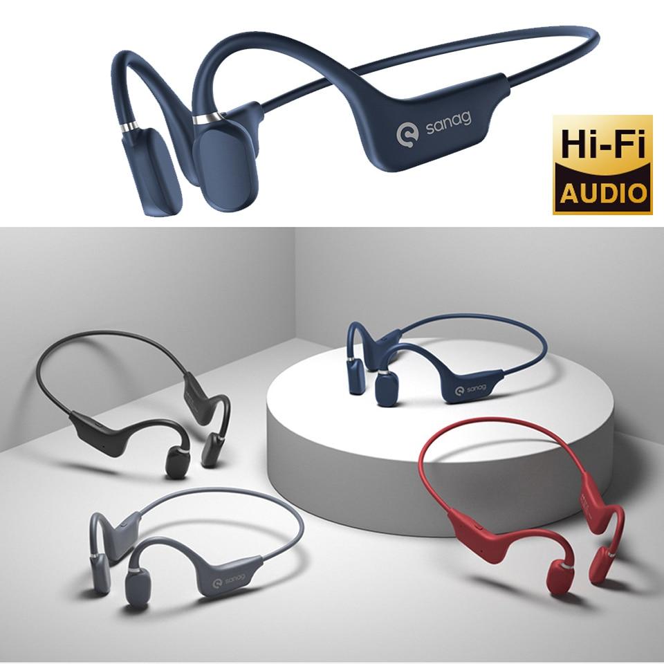 Bone Conduction Headphones Bluetooth 5.0 Wireless Sports Earphone IP67 Headset Stereo Hands-free wit