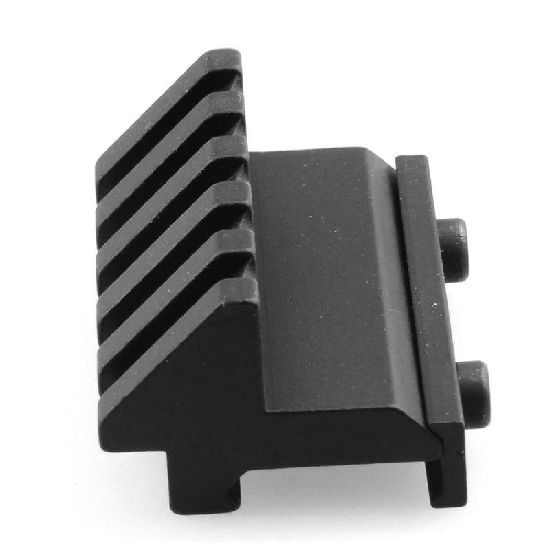 Tactical 45 Degree Angle Offset 20mm Weaver Rail Mount Picatinny 5 Slot