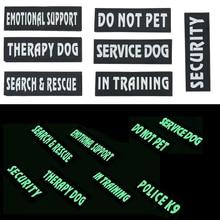 Ne pas animaux de compagnie soutien émotionnel thérapie chien patchs dans le Service de formation thérapie chien sécurité badges harnais gilet sac à dos applique