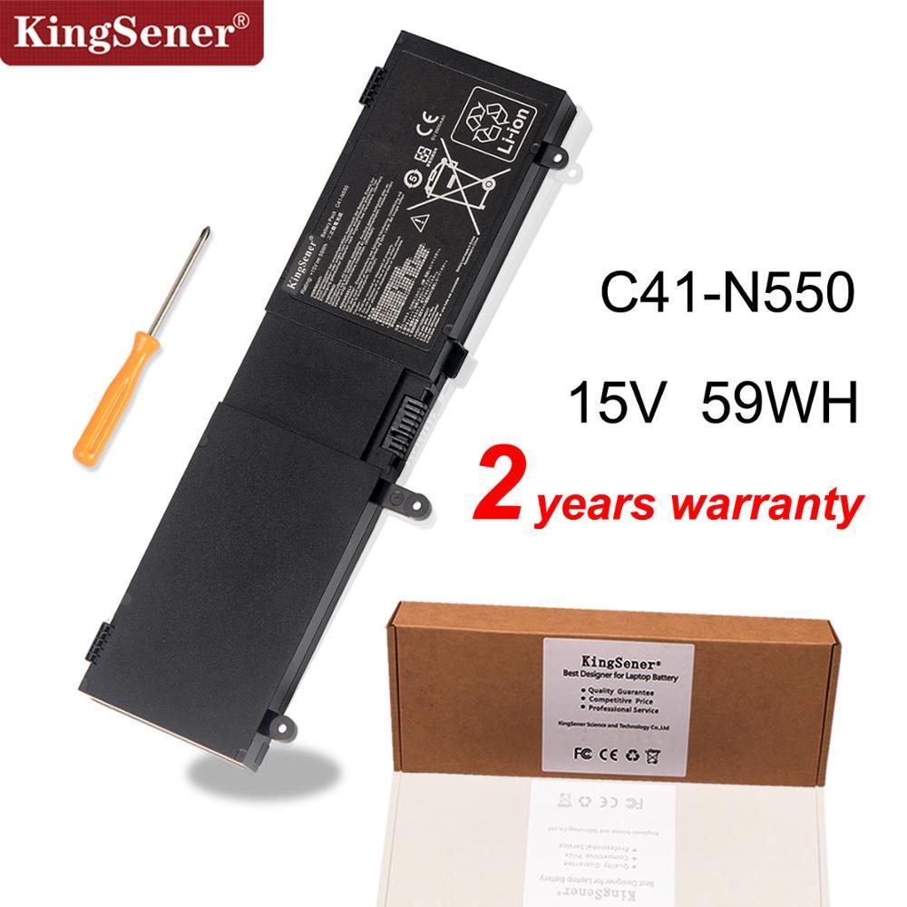kingsene korea cell new c41 n550 battery for asus n550 n550ja n550jv n550x47jv n550x47jv sl c41 n550 59wh free 2 years warranty KingSene C41-N550 Laptop Battery for ASUS N550 N550JA N550JK N550JV G550 G550J G550JK ROG G550 G550J G550JK Q550LF Q550L Series