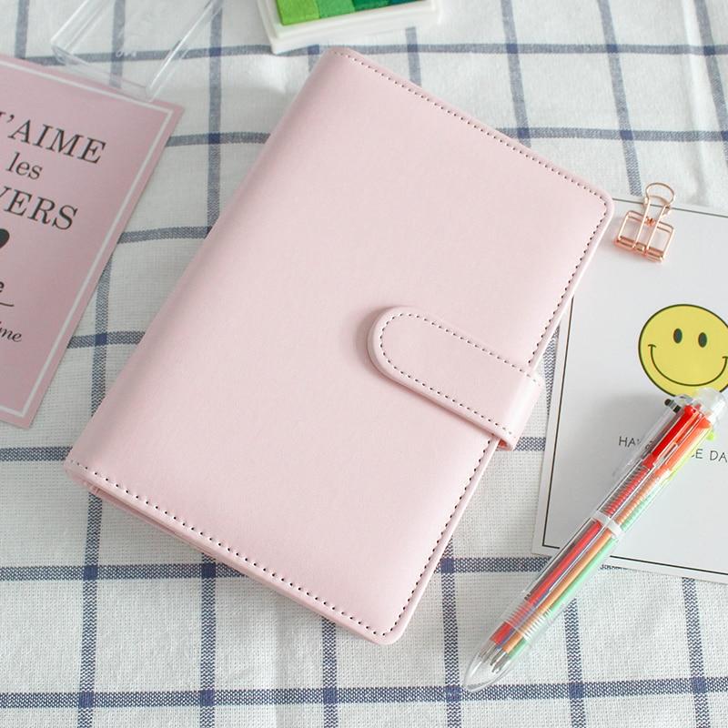 PU Notebook Planner Organizer binder Diary Schedule book planner diary Loose-leaf binder School supplies A5 A6