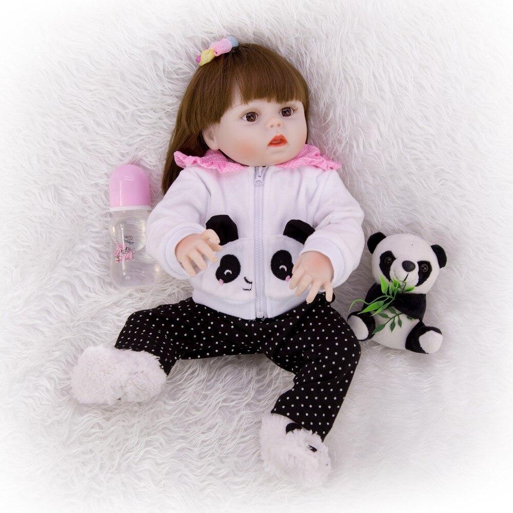 Muñecas de juguete reborn realistas de 48 cm, muñecas de vinilo de silicona inteiro, muñecas para niñas, bebés reborn, muñecas DOLLMAI, regalo para niños a la moda