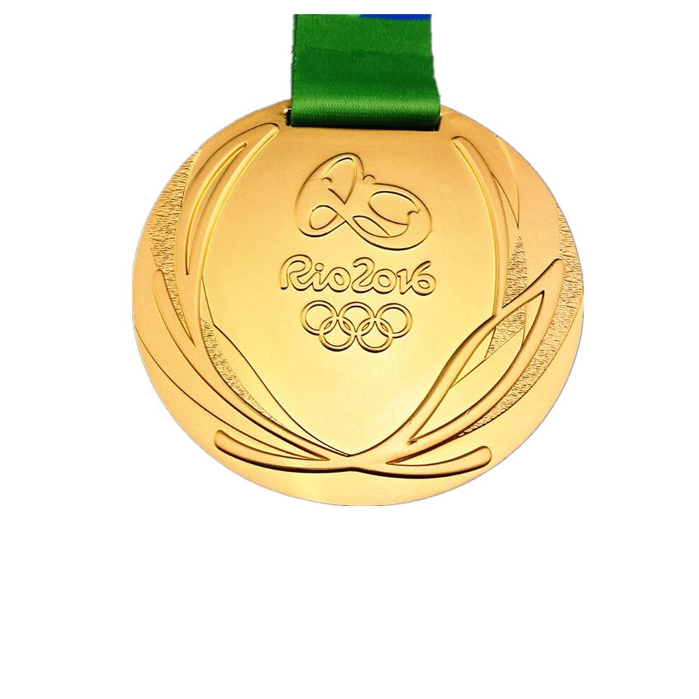 1x2016 бразильские медали в Рио, золотая эмблема, награды спортсменов, значок, спортивная медаль игрока с магнитными аксессуарами, 60x5 мм S