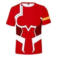 men women anime t shirt zero two figure cosplay tees short sleeve casual 3d tshirt darling in the franxx shirt print tee tops