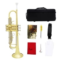 m mbat golden silver trumpet bb b flat gold plated cupronickel body trompeta brass instrument with mouthpiece gloves strap case