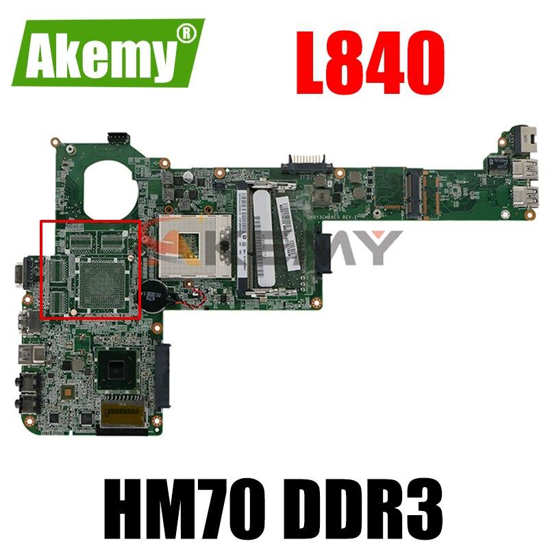 AKEMY A000174120 DABY3CMB8E0 لأجهزة الكمبيوتر المحمول توشيبا الأقمار الصناعية L840 REV E إنتل hm70 ddr3 المقبس PGA989