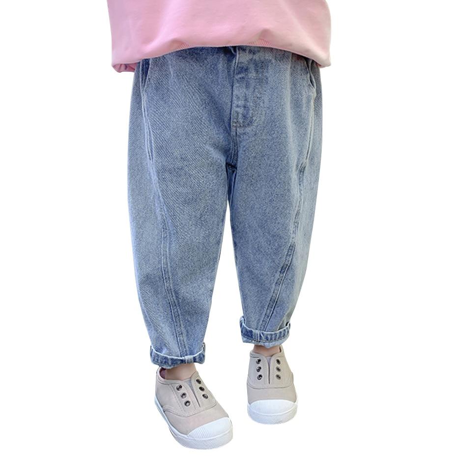 Детские джинсы; Однотонные джинсы для девочек; Сезон весна осень; Джинсы для маленьких девочек; Повседневный стиль; Одежда для маленьких девочек Джинсы    АлиЭкспресс