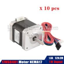 10pcs Nema17 Step Motor  42x48mm 1.8A 52n.cm 4-lead CNC Reprap 3D Printer Nema 17