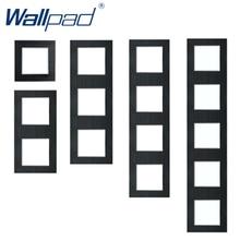 Marco Vertical de Metal negro Panel de pared DIY de aluminio 86*86mm 172*86mm 258*86mm 344*86mm 430*86mm marco sólo