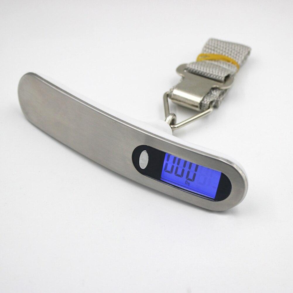 50 kg/10g Mini Balance electrónico báscula Digital gancho colgante equipaje portátil LCD peso de la pantalla
