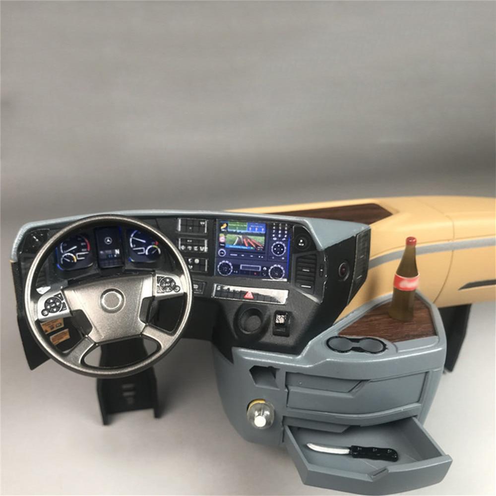 Consola de cabina central interna de plástico izquierda/derecha Kit de cabina para Tamiya Actros 3363 56348 1851 1/14 accesorios de coche camión RC