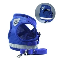 pet dog harness leash set reflective small pet puppy cat vest harnesses breathable mesh harness for small medium dogs s xl