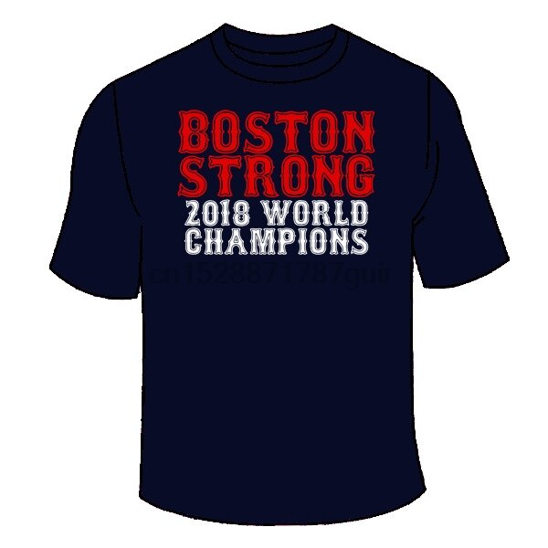 Футболка Boston Strong 2018 Champions. Red Sox чемпионат мира серии подарок вентилятор