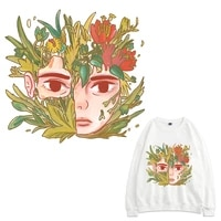 flower patches thermal stickers on clothes fabric iron on transfers for clothing thermoadhesive patch diy boy applique for kid