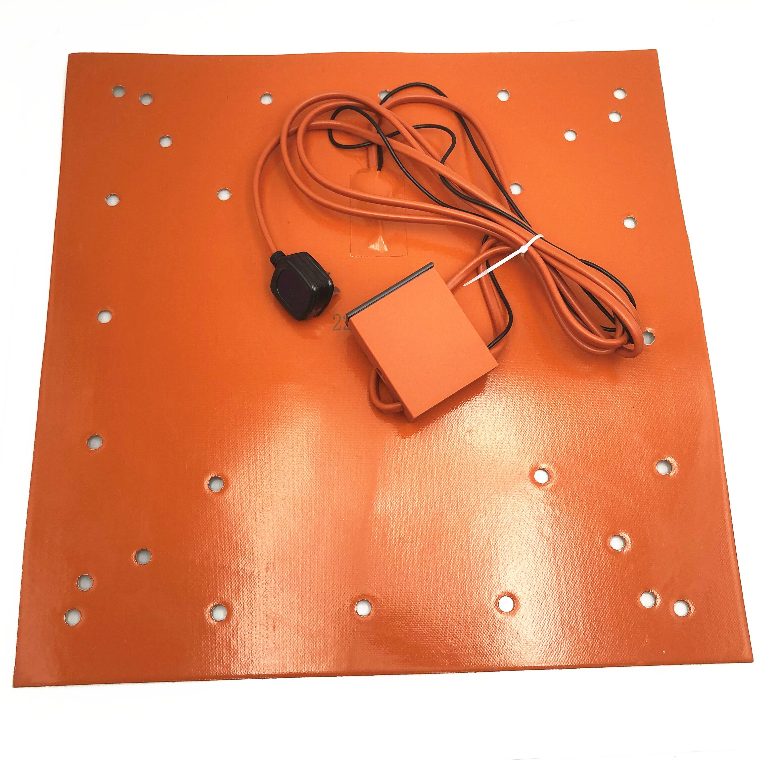 1 قطعة 508X508mm السيليكون ساخنة سادة السرير مع الرقمية تحكم ل Creality CR-10S5 سلسلة اسمحوا ساخنة السرير يصل إلى 100C