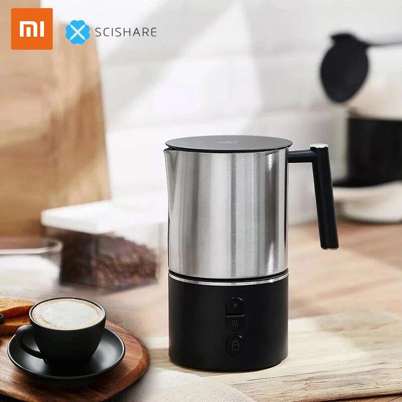 شاومي شيشير الكهربائية الحليب رغوة فقاعة القهوة لتقوم بها بنفسك آلة لاتيه الفن مقشدة صانع الحليب الدافئ كابتشينو Frother إبريق 220 فولت