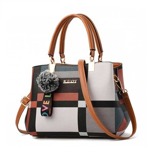 2020 Fashion Handbag Women Stitching Wild Messenger Bags Designer New Brand Plaid Shoulder Bag Female Ladies Totes Crossbody Bag