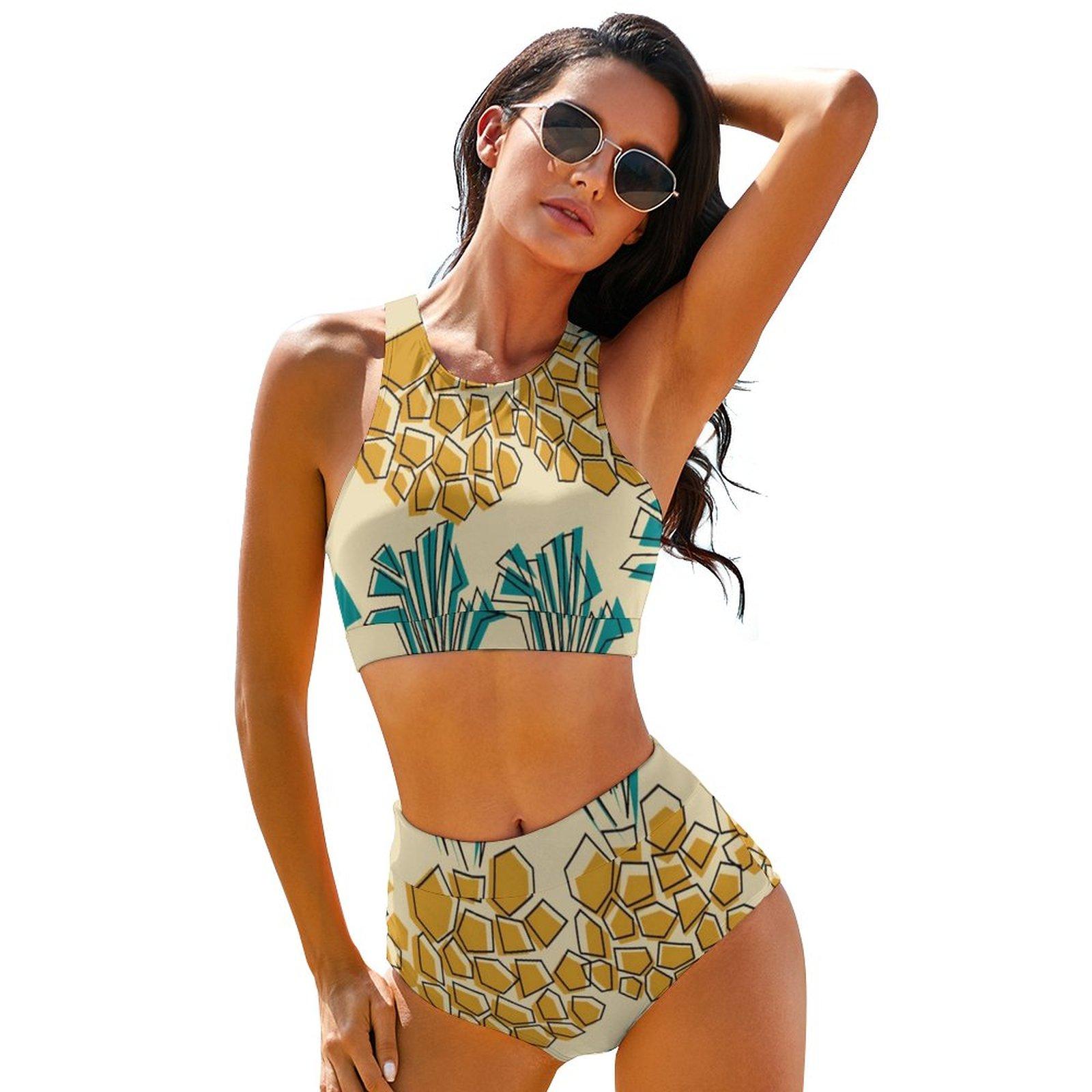 الأناناس بيكيني ملابس السباحة قابل للتعديل الجمالية بركة ملابس الشباب بكميات كبيرة 2 قطعة ثوب السباحة