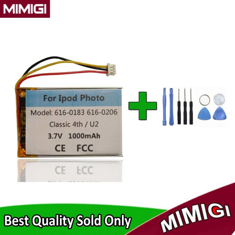750mAh 616-0183 para APPLE IPOD 4th 4 Gen PE435A A1099 20gb 40gb 60gb batería pila acumulador AKKU + herramienta de regalo