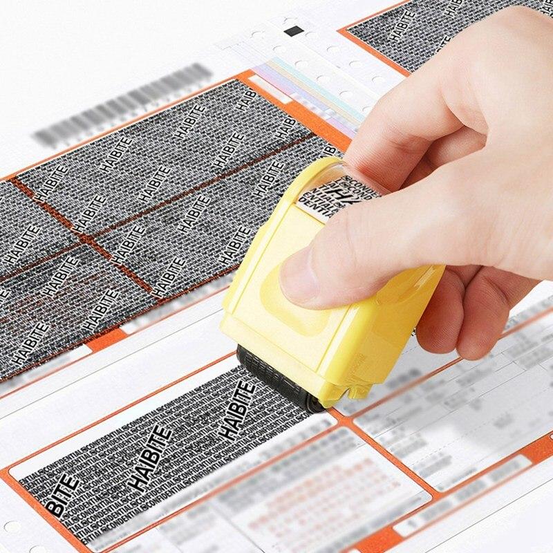 1 Uds. Sello de rodillo de sellado, Código de Protección antirrobo protege tu identificación confidencial paquete información privada sello *
