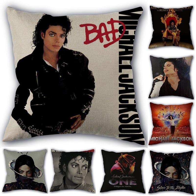 Наволочка для подушки на заказ Майкл Джексон домашний текстиль квадратная 45х45см декоративное хлопковое белье Наволочка