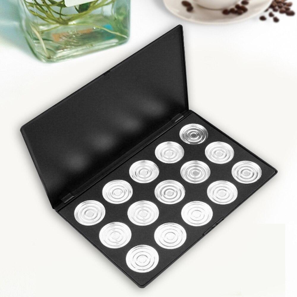 15 sztuk pusty kosmetyki makijaż cień do powiek paleta aluminiowa DIY patelnie Case Tool 36mm