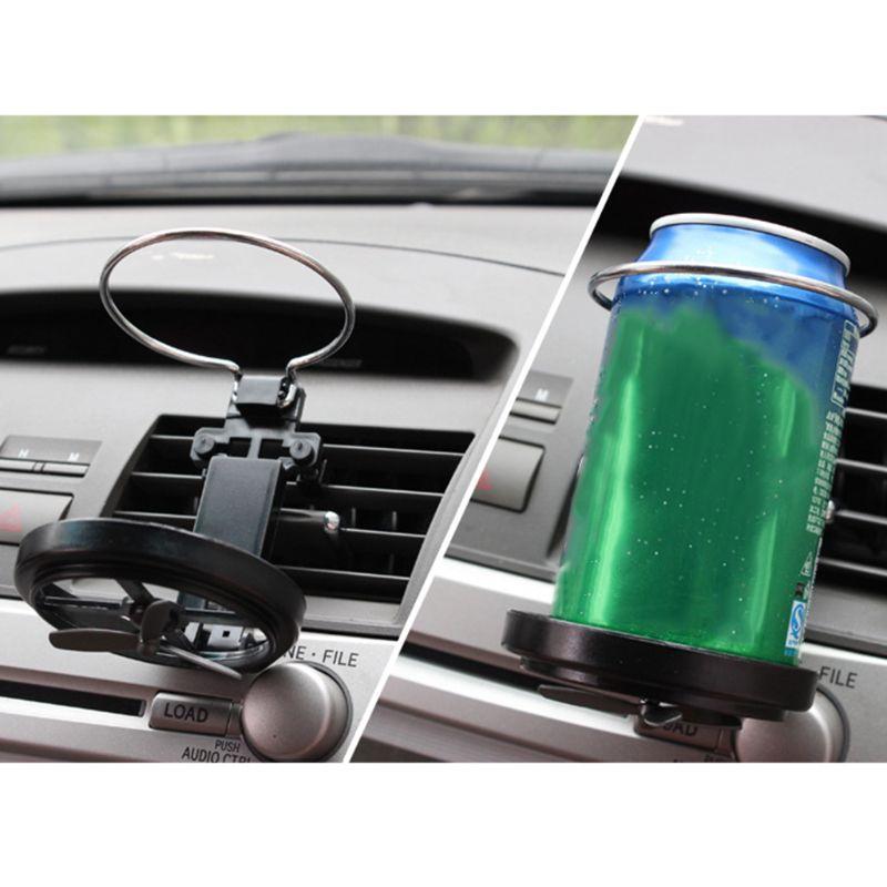 Soporte para bebidas con salida de aire, funda para coche, taza de agua, botella con Clip, gancho para botella con ventilador B36B
