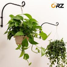 2 adet duvar bitkisi askı braketi bahçe dökme demir ağır bitki çiçek asma kancaları kapalı dış mekan bitkileri