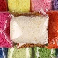 20gbag multi color fashion craft shredded crinkle paper raffia presentcandy boxgift box filling material party decor