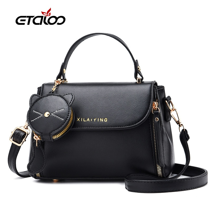 2021 New Fashion Women PU Leather Messenger Bags Crossbody Chain Bag And Handbags With Metal Small Package