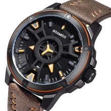 BOAMIGO luxe haut marque hommes sport montres créatif quartz pour mode décontractée en cuir montre-bracelet auto date horloge relogio masculino