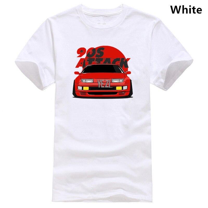 Camiseta de diseñador Nissan Fairlady 300ZX-90 s car attack adolescente Camiseta corta de alta calidad camisa gris para hombre