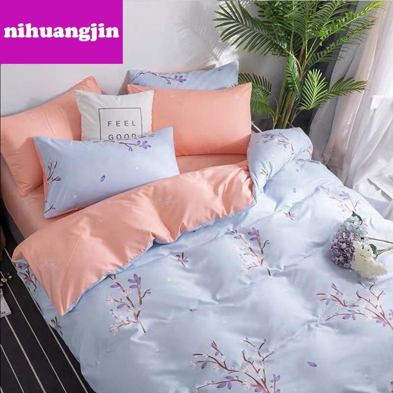 Gran oferta de ropa de cama barata, edredón de algodón puro amigable para la piel de los famosos, juego de tres piezas y cuatro piezas para el hogar