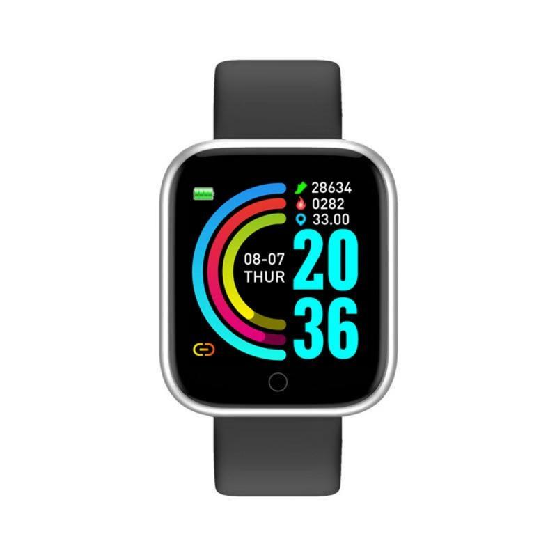 Y68 Sports Smart Watch Life Waterproof Watch Blood Pressure Heart Rate Monitor Soft Silicone 1.3 Inch Smart Bracelet Smartwatch