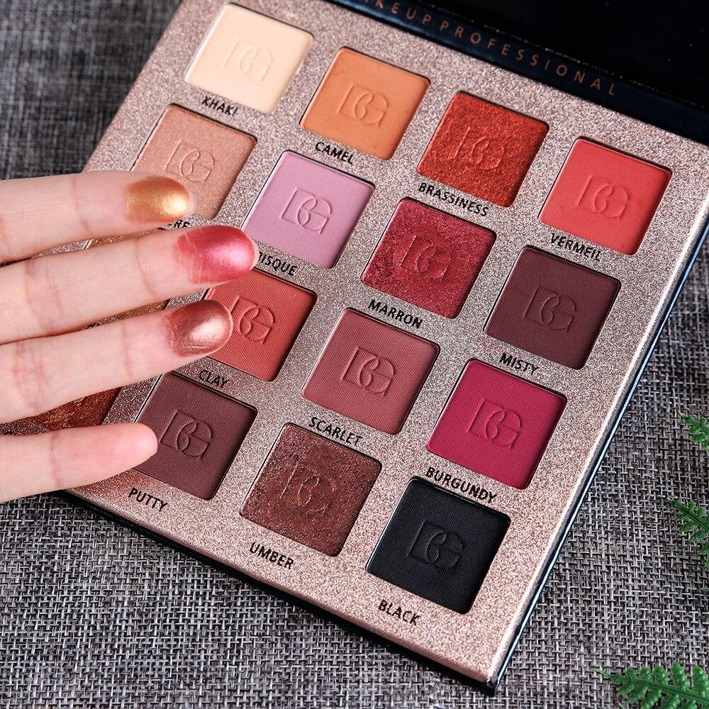 Beauty glazed paleta de sombra, 16 cores, esmaltadas, beleza, sombra de olho, glitter, longa duração, utensílios de maquiagem, tslm1