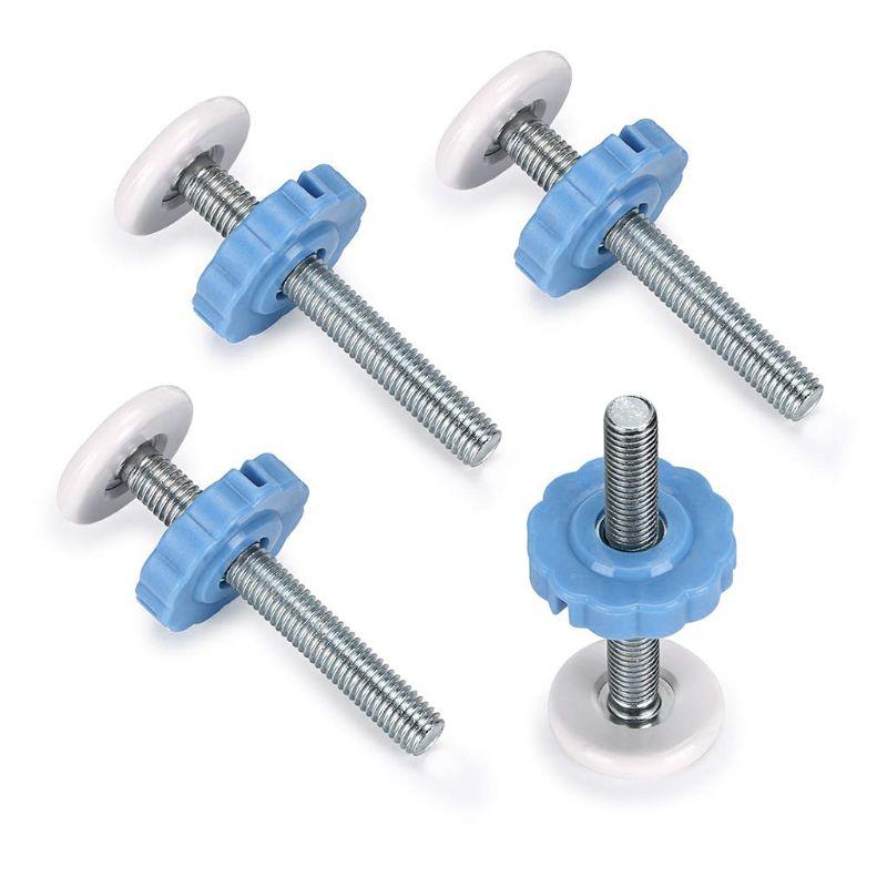 4pcs Pressure Baby Gate Screw Bolts Threaded Spindle Rods Walk Thru Gates M10
