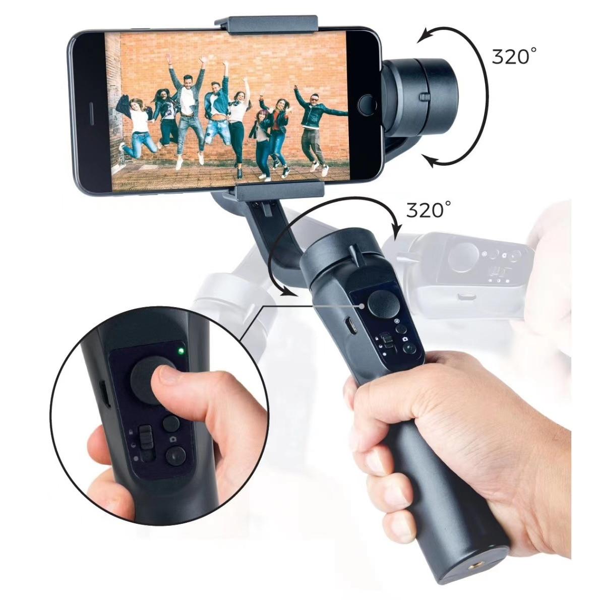 Handheld Phone Gimbal Stabilizer 3-Axis  PTZ Tripod  Anti-Shake For Smartphone Vlog iPhone/Samsung/Huawei/Xiaomi/Universal