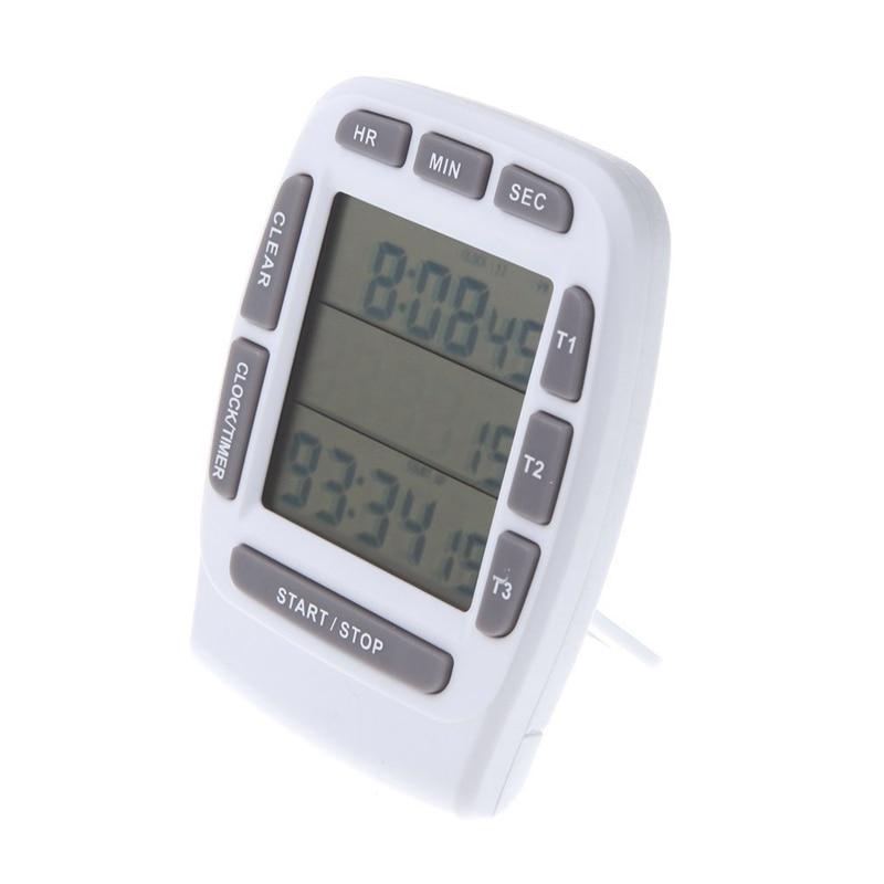 FashionLCD Digitale Alarm Timer mit Triple Display 3-Linie Timer Countdown Stoppuhr