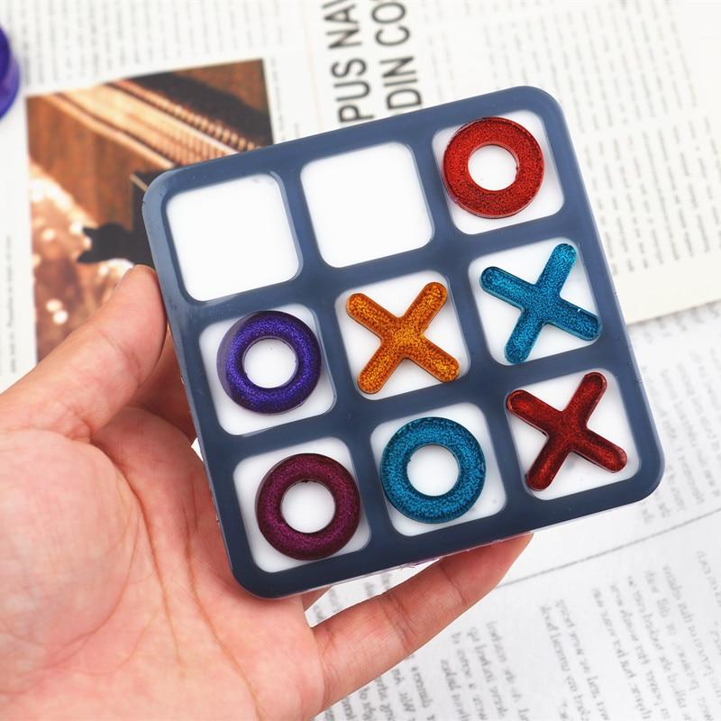 tic-tac-toe-ox-шахматная-игра-зеркальная-силиконовая-форма-сделай-сам-ювелирные-изделия-Маленькая-подвеска-зеркальная-форма-ручной-работы