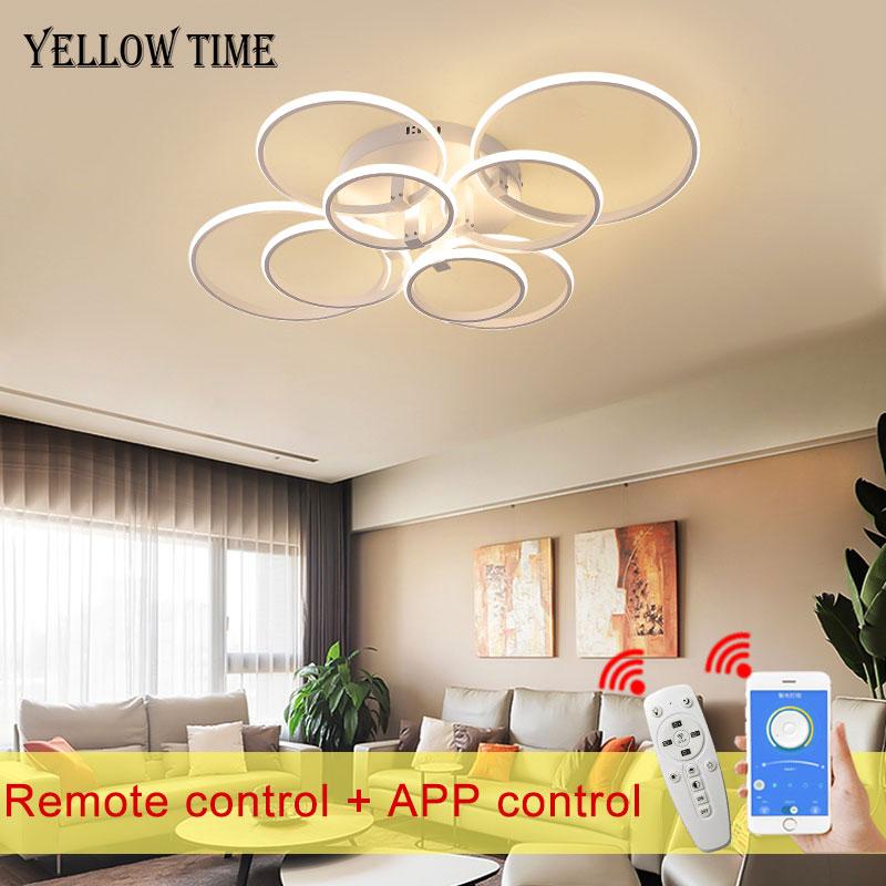 Modern LED Ceiling Light Circle Ring Indoor Lighting For Living room Bedroom Kitchen Ceiling Lamp App Remote Control Luminaire enlarge